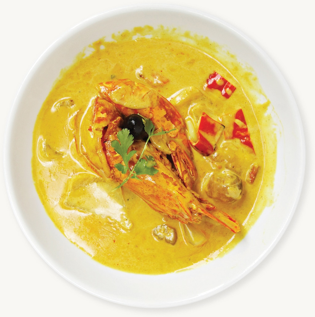 Shrimp in Curry Sauce